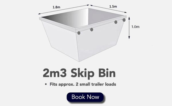 2m3 Skip Bin - Fits 2 Small Trailer loads
