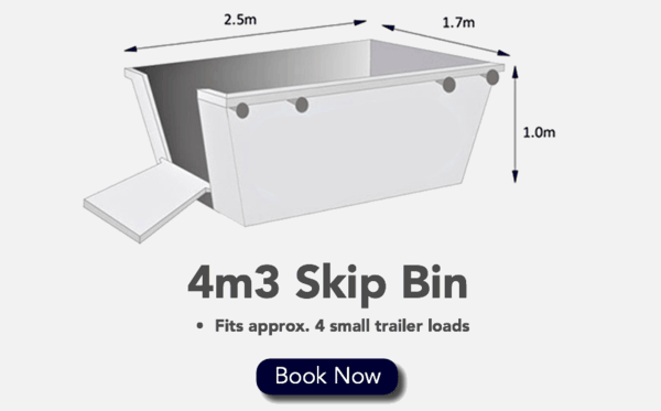 4m3 Skip Bin - Fits 4 Small Trailer loads