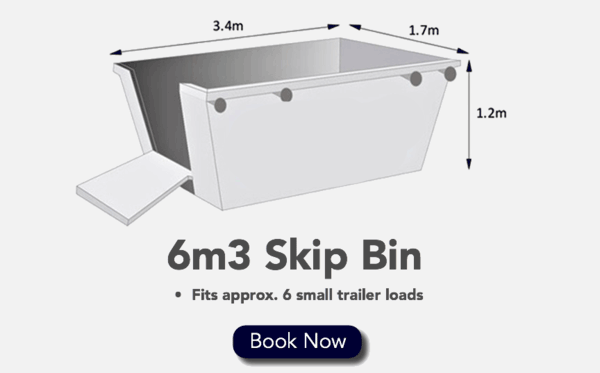 6m3 Skip Bin - Fits 6 Small Trailer loads