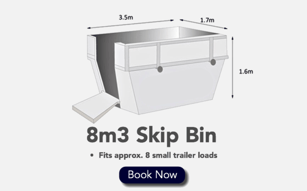 8m3 Skip Bin - Fits 8 Small Trailer loads