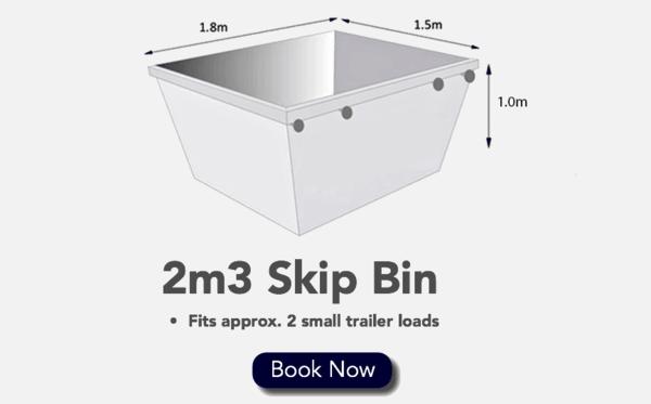 2m3 Skip Bin - Fits 2 Small Trailer loads