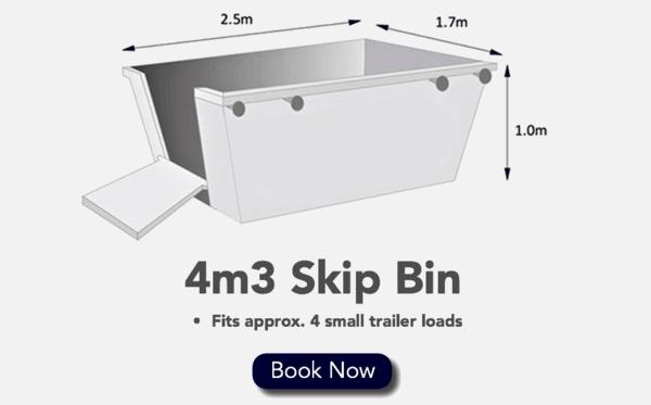4m3 Skip Bin - Fits 4 Small Trailer loads