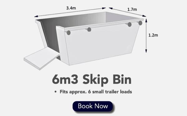6m3 Skip Bin - Fits 6 Small Trailer loads