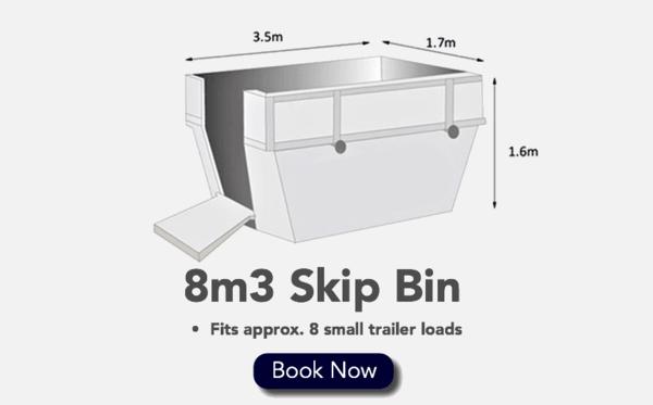 8m3 Skip Bin - Fits 8 Small Trailer loads